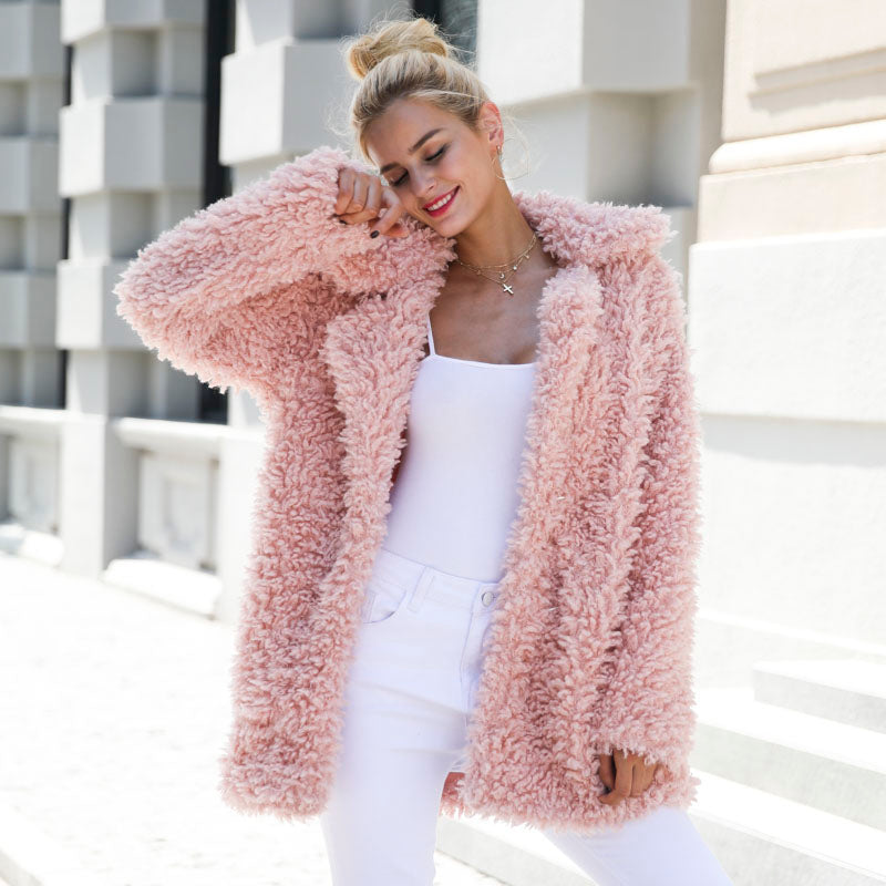 Faux Fur Turn-Down Collar Coat, Jackets - Mood:Fabulous | Find your style! Shop online women's clothing, accessories, shoes & more. Free shipping on orders over 50€.