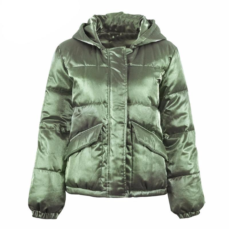 Metallic Hooded Padded Jacket, Jackets - Mood:Fabulous | Find your style! Shop online women's clothing, accessories, shoes & more. Free shipping on orders over 50€.