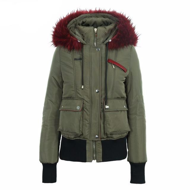 Fur Hood Padded Jacket, Jackets - Mood:Fabulous | Find your style! Shop online women's clothing, accessories, shoes & more. Free shipping on orders over 50€.