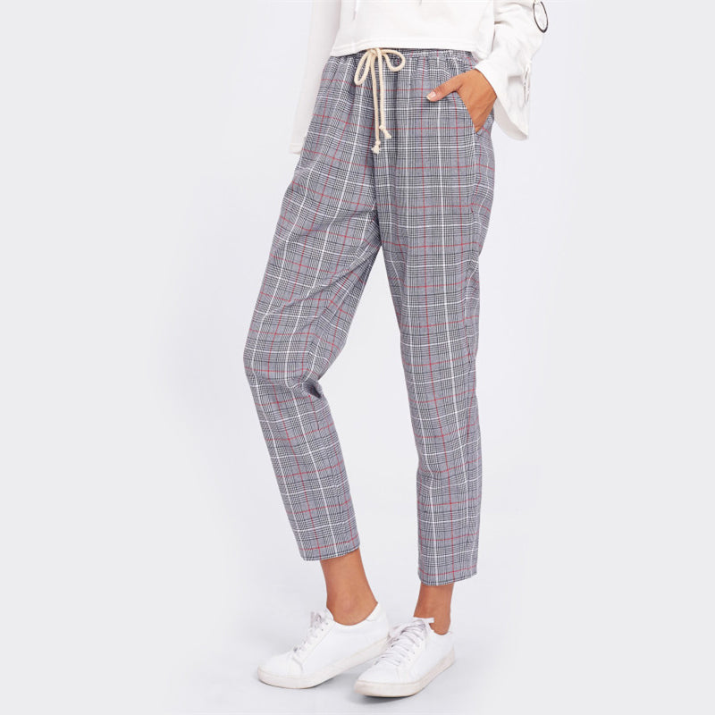 Plaid High Waist Pants, Bottoms - Mood:Fabulous | Find your style! Shop online women's clothing, accessories, shoes & more. Free shipping on orders over 50€.