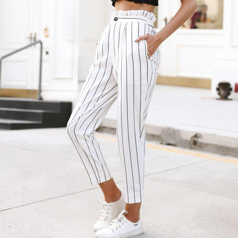 Striped Paperbag Pants, Bottoms - Mood:Fabulous | Find your style! Shop online women's clothing, accessories, shoes & more. Free shipping on orders over 50€.