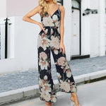Floral Surplice Jumpsuit, Jumpsuits - Mood:Fabulous | Find your style! Shop online women's clothing, accessories, shoes & more. Free shipping on orders over 50€.