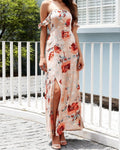 Ruffle Off-Shoulder Maxi Dress, Dresses - Mood:Fabulous | Find your style! Shop online women's clothing, accessories, shoes & more. Free shipping on orders over 50€.