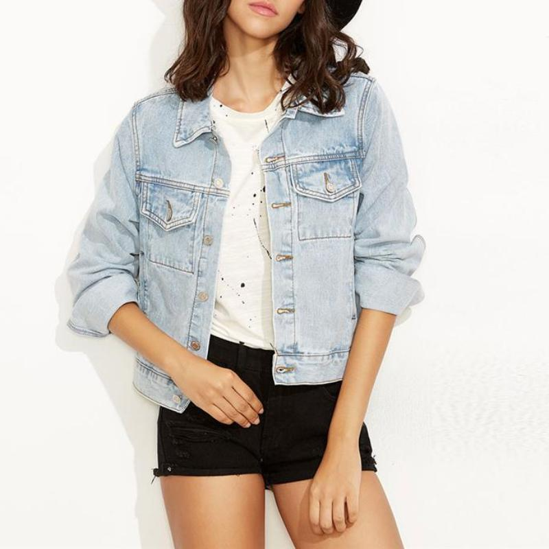 Bleach Wash Denim Jacket, Jackets - Mood:Fabulous | Find your style! Shop online women's clothing, accessories, shoes & more. Free shipping on orders over 50€.