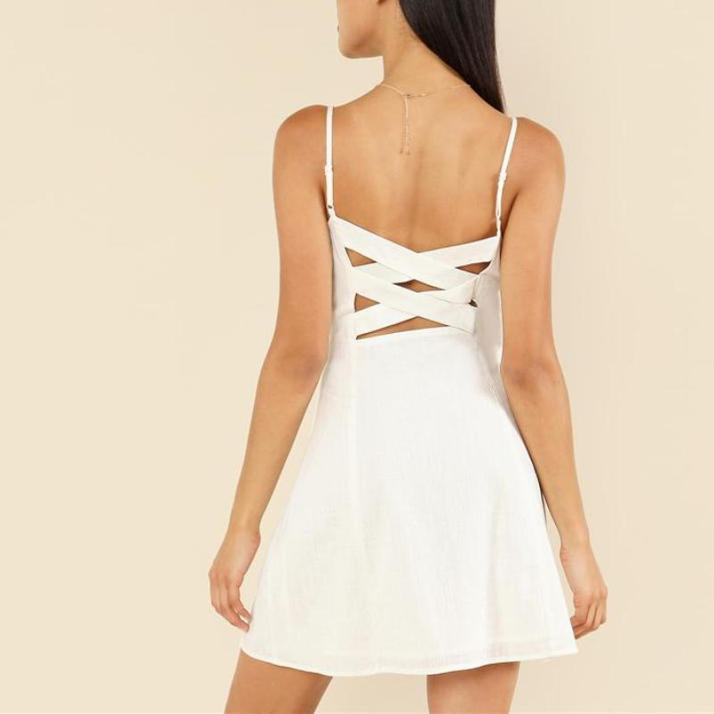 Button Up Cut Out Dress, Dresses - Mood:Fabulous | Find your style! Shop online women's clothing, accessories, shoes & more. Free shipping on orders over 50€.