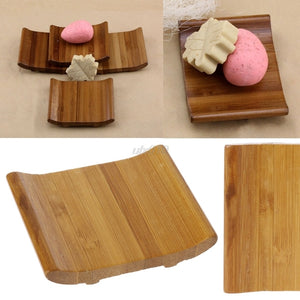 Natural Bamboo Soap Box /Travel Soap Rack