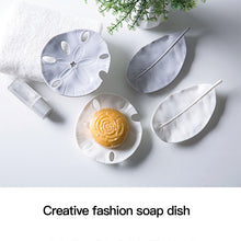 Load image into Gallery viewer, Creative Plastic Leaf Shape Soap Dish