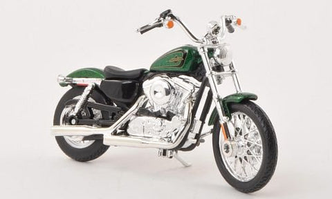 1:18 Harley Davidson XL 1200V Metallic-Green Motorcycle Die-Cast