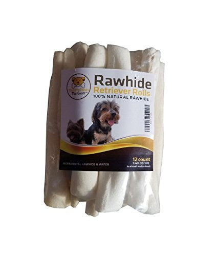 Rawhide Natural Retriever Rolls Dog Chews- 12 Pcs