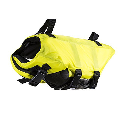 Swimways Doggie Swim Vest Life Jacket for Pool, Lake, Boat, with Handles, Color: Yellow Size: Medium