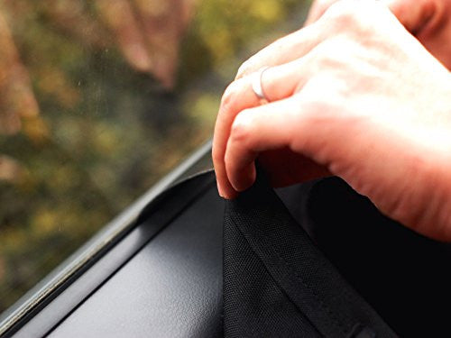 NAC&ZAC Waterproof Pet Car Door Cover, Two Options To Install-Insert The Tabs Or Stick The Velcros. Fit All Vehicles.