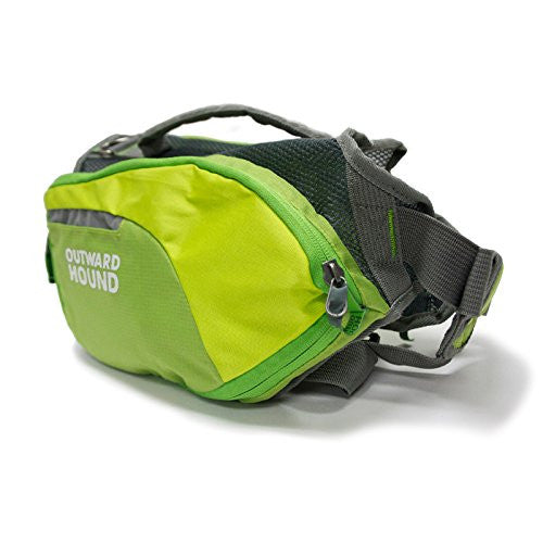 Daypak Dog Backpack Hiking Gear For Dogs by Outward Hound, Large, Green