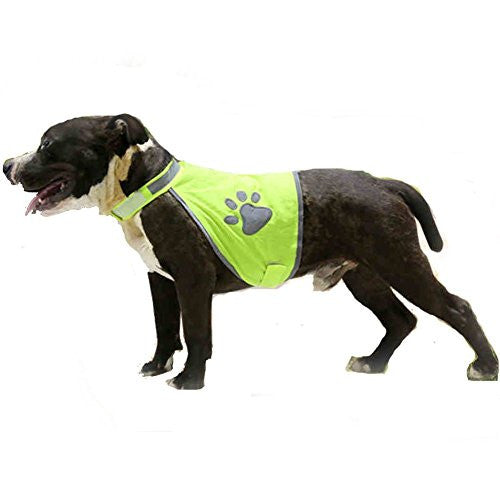 Lifeunion Reflective Vest with Adjustable Strap , Florescent Reflectors Safety Dogs Vest for Hiking Hunting Walking, Reflects Car Lights for Safety (L)