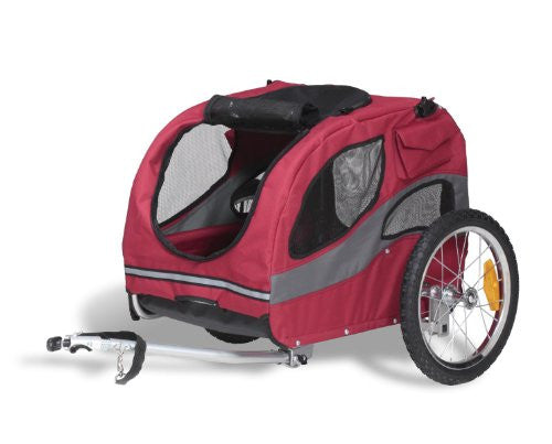 Solvit HoundAbout Pet Bicycle Trailer, Medium, Steel Frame