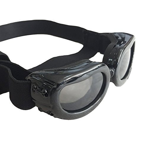 Kailian Dog Goggles Stylish Waterproof Anti-ultraviolet Sunglasses For Doggie Puppy-Black