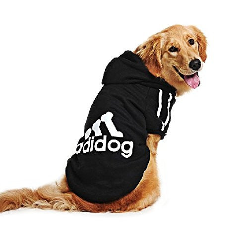 Eastlion Large Dog Warm Hoodies Coat Clothes Sweater Pet Puppy T Shirt Black 3XL