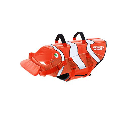 Dog Life Jacket Ripstop Life Jacket for Dogs by Outward Hound, Small, Fun Fish