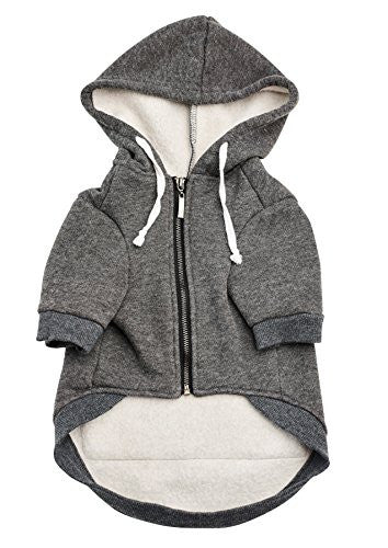 The Adventure Zip Up Dog Hoodie With Velcro Pockets and Adjustable Drawstring Hood - Available in Extra Small to Extra Large. Comfortable & Versatile Winter Dog Clothes By Ellie Dog Wear. (L)
