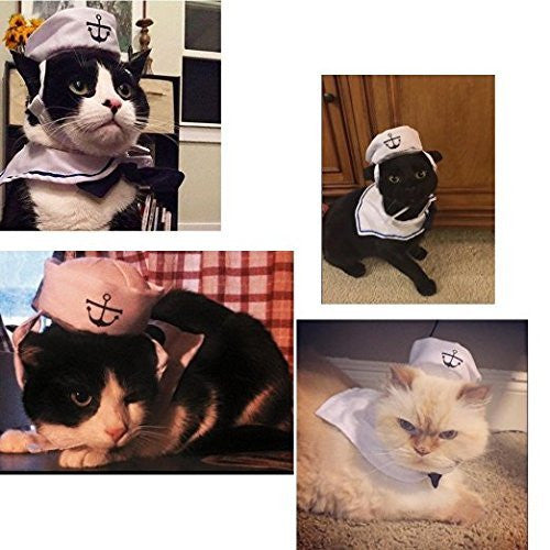 Namsan Cat Dog Sailor Costume Hat Navy Tie