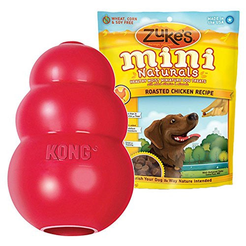 KONG CLASSIC LARGE Rubber Chew Toy For Dogs - World's Best Dog Toy (T1)