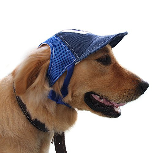 Bwogue Dog Baseball Hat Adjustable Outdoor Sports Sun Protection Hat Cap for Small and Medium Dog