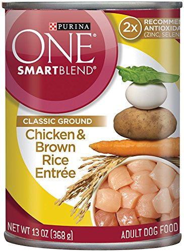Purina ONE SmartBlend Classic Ground Wet Dog Food - (12) 13 oz. Cans
