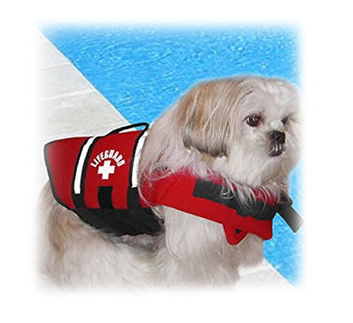 X-Small Paws Aboard Red Neoprene Dog or Cat Life Preserver for Pets 6-15 Lbs