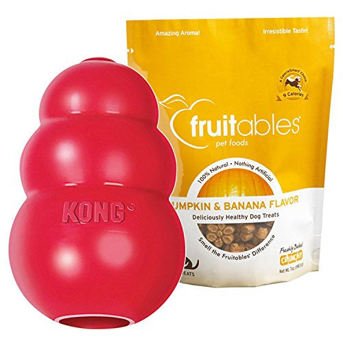 KONG CLASSIC SMALL Rubber Chew Toy For Dogs - World's Best Dog Toy (T3)