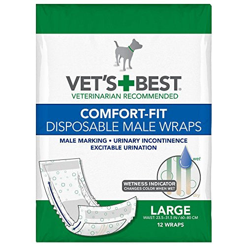 Vet's Best Comfort Fit Disposable Male Wrap, 12 count, Large