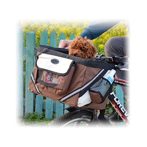 Premier Dog Cat Puppy Bike Bicycle Basket Front Seat Car Travel Carrier Pet Gear