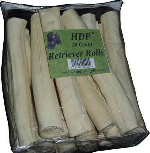 "HDP Retriever Rolls Rawhide 9""-10"" Size:Pack of 20"
