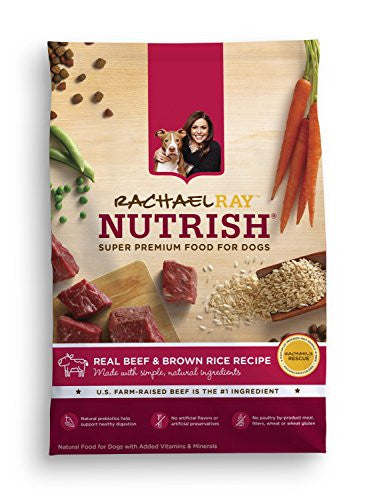 Rachael Ray Nutrish Natural Dry Dog Food, Real Beef & Brown Rice Recipe, 14 lb