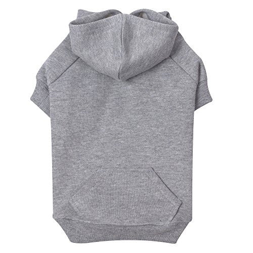 "Zack & Zoey Basic Hoodie for Dogs, 12"" Small, Heather Gray"