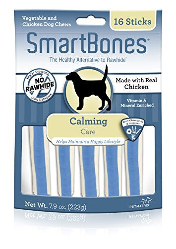 Smart Bone Functional Sticks Calming Dog Chews, 16 pieces/pack