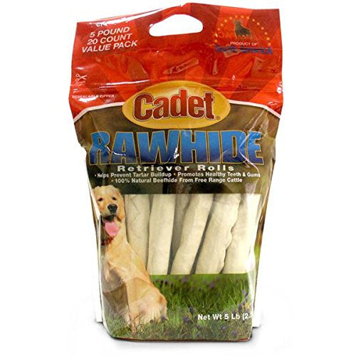 "Cadet Retriever Rolls Rawhide 10"" Size:Pack of 40"