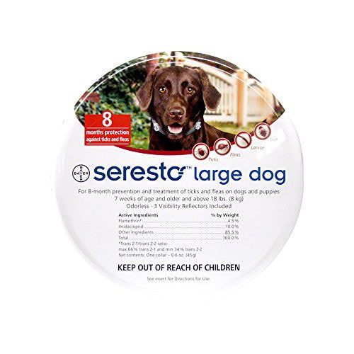 Bayer Seresto Flea and Tick Collar, Large Dog, 2-Pack