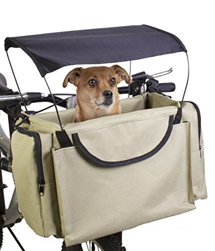 Traveler 2-in-1 Pet Bike Basket and Over the Shoulder Carrier