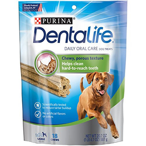 Purina DentaLife Daily Oral Care Large Adult Dog Treats - (1) 20.7 oz.,18 ct. Pouch