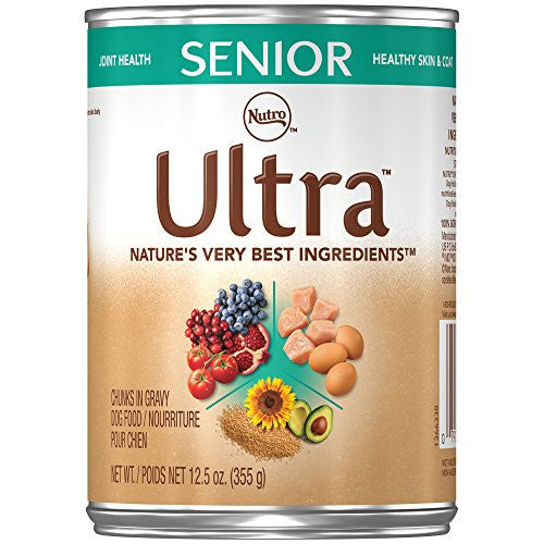 ULTRA Senior Canned Dog Food 12.5 Ounces (Pack of 12)