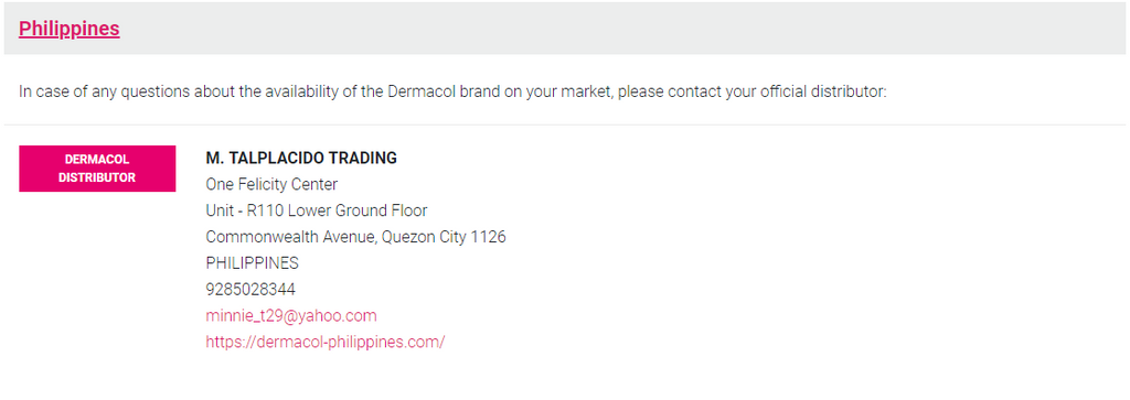 ABOUT DERMACOL – Dermacol Philippines