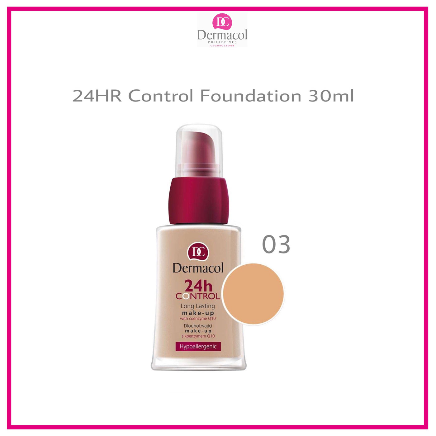 a0743fb62 24H Control Make-Up - No. 03 – Dermacol Philippines