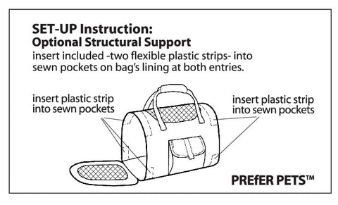 Prefer Pets Travel Gear - 599 Privacy Duffel Set Up Beams Instructions