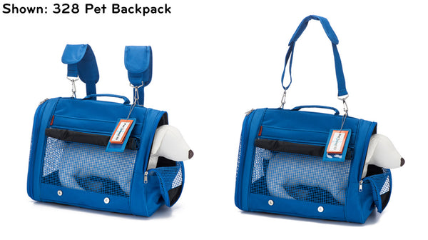 Prefer Pets Travel Gear 328 Pet Backpack Carrier Blue for Cats and Dogs