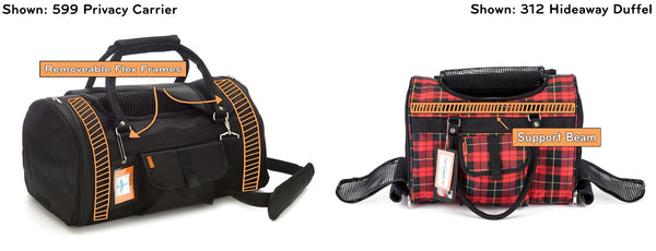 Prefer Pets Travel Gear 599 Privacy Duffel 312 Hideaway Duffel Black Red Plaid Pet Carrier