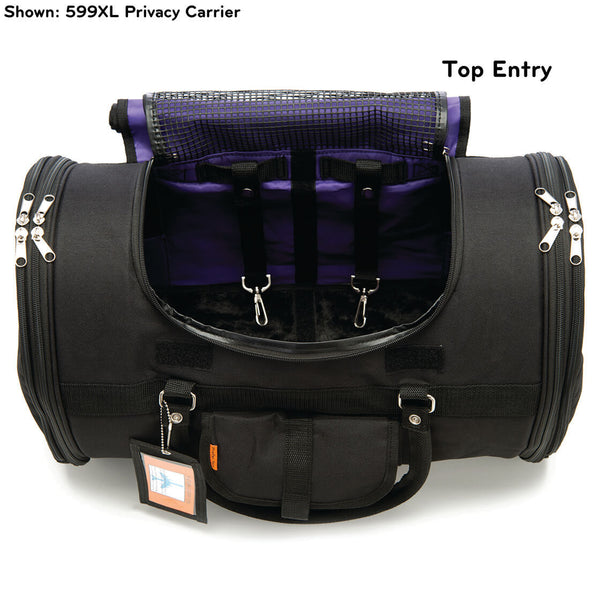 Prefer Pets Travel Gear 599 XL Privacy Duffel Black Pet Carrier for Dogs and Cats
