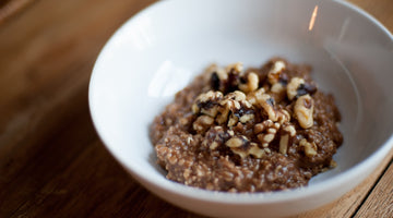 Cacao Quick Oats With Walnuts and Coconut Milk
