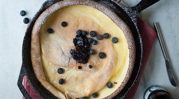 Dutch Baby Recipe with Biodynamic Blueberry Jelly
