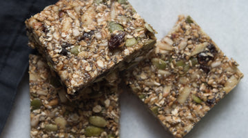 Raw Energy Bars with White Leaf Provisions Apple & Pear Sauce