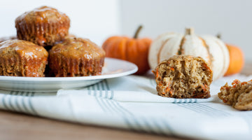 Biodynamic Carrot Muffins With Yogurt Frosting and Honey