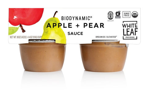 White Leaf Provisions Biodynamic Apple Sauce